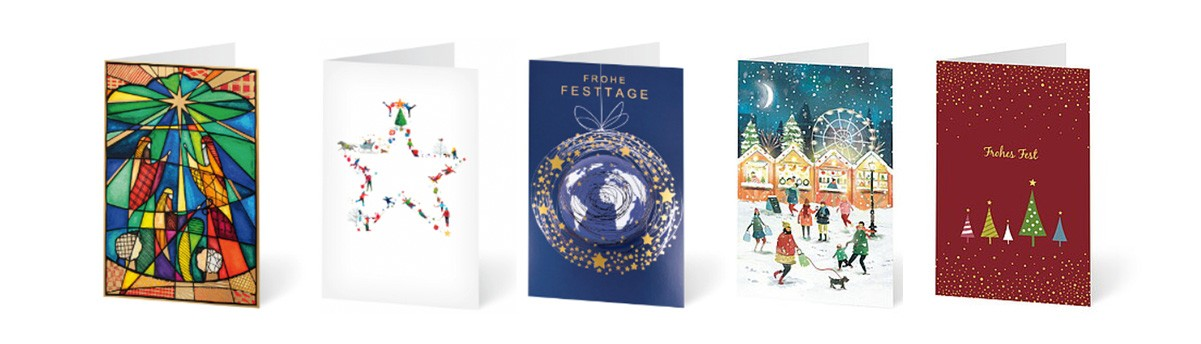 Weihnachtenkarten und Sets online bestellen