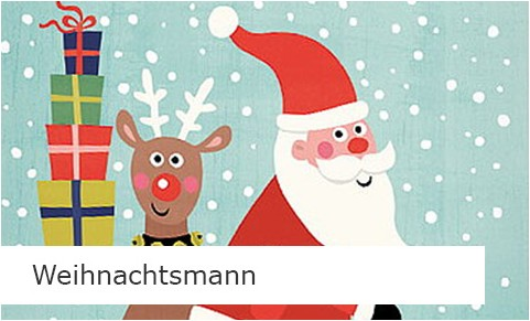 Weihnachtsmann Grußkarten online bestellen